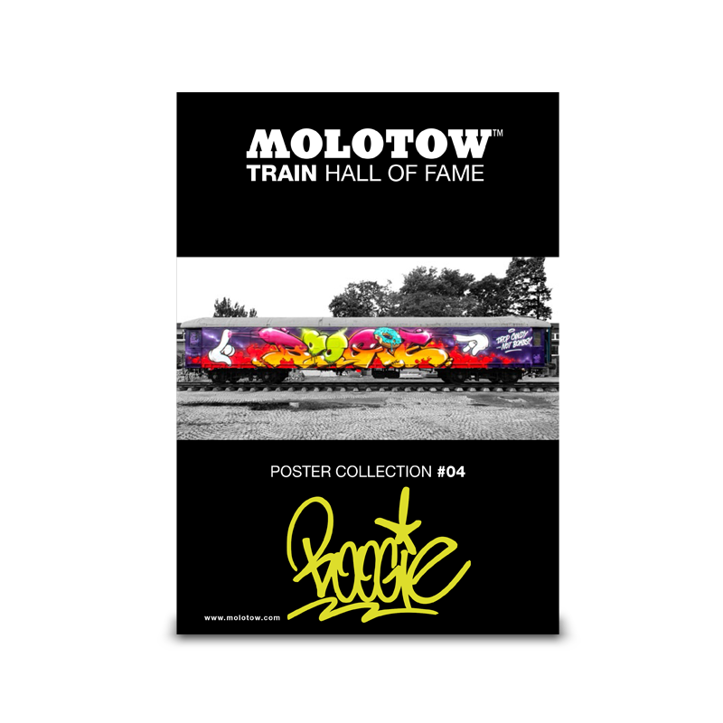 """MOLOTOW™ Train Poster #04 """"BOOGIE"""""""