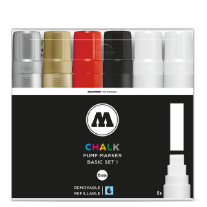Chalk Marker Basic-Set 1 (15 mm)