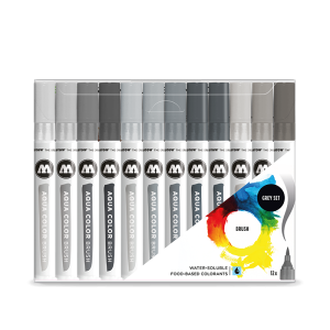 AQUA COLOR BRUSH GREY SET