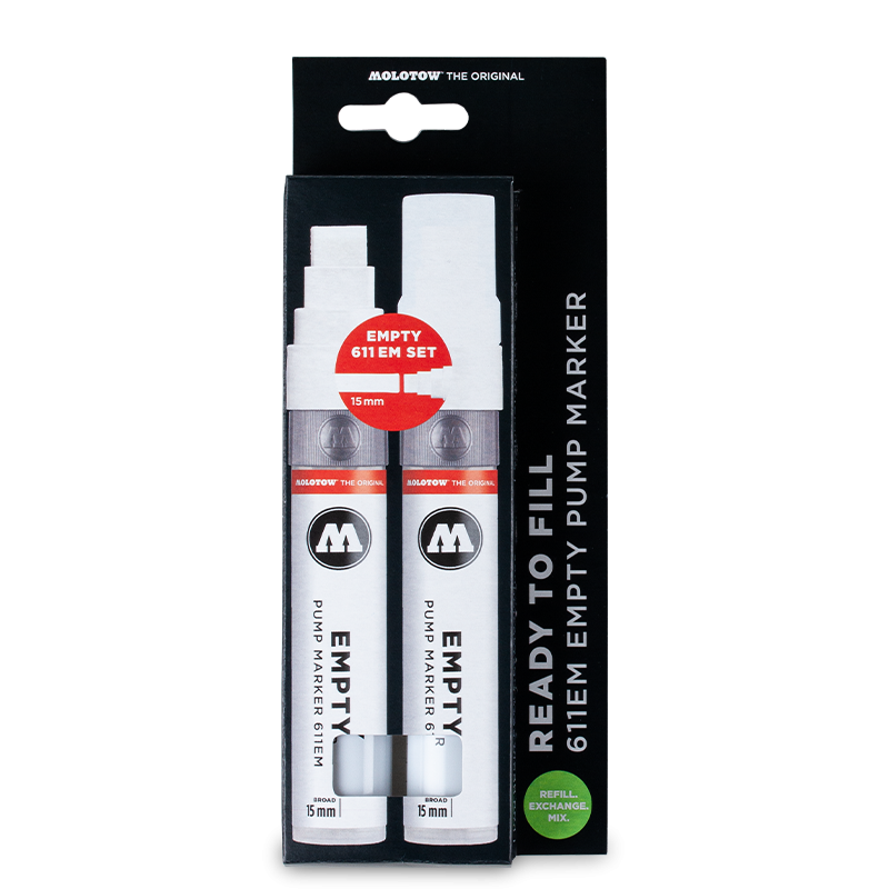 611 EMPTY MARKER 2ER SET WITH REFILL EXTENSION