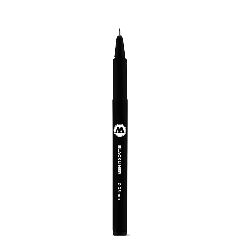 BLACKLINER 0.05 - 1 mm, Chisel, Round, Brush S, Calligraphy